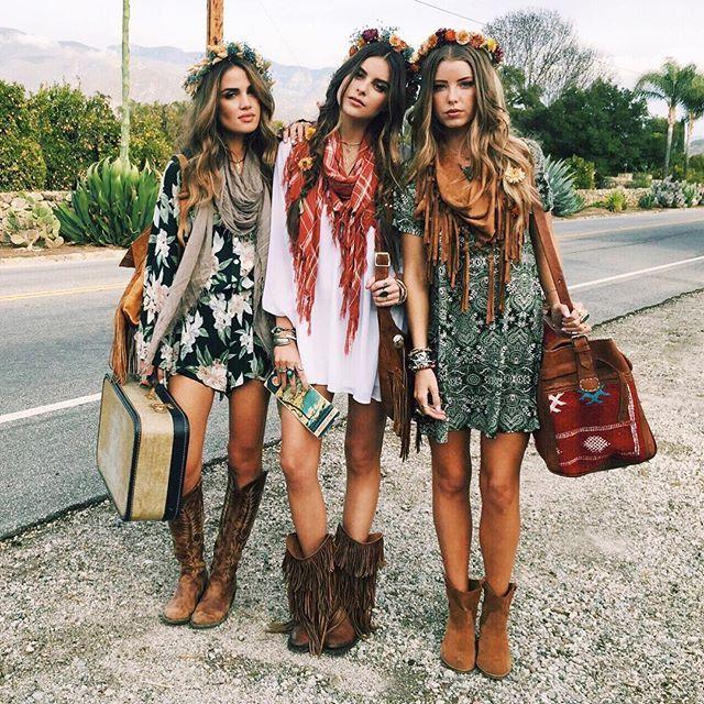 ╰☆╮boho chic bohemian boho style hippy hippie chic bohème vibe gypsy  fashion indie folk PKOHEEW