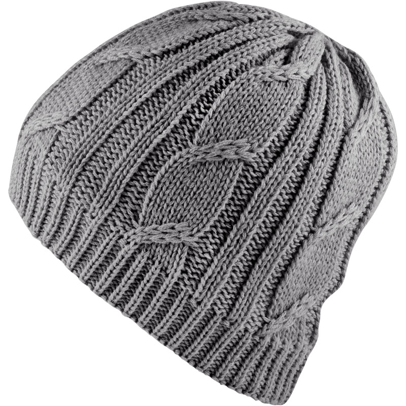 ... cable knit beanie - grey ... KYMEAAX