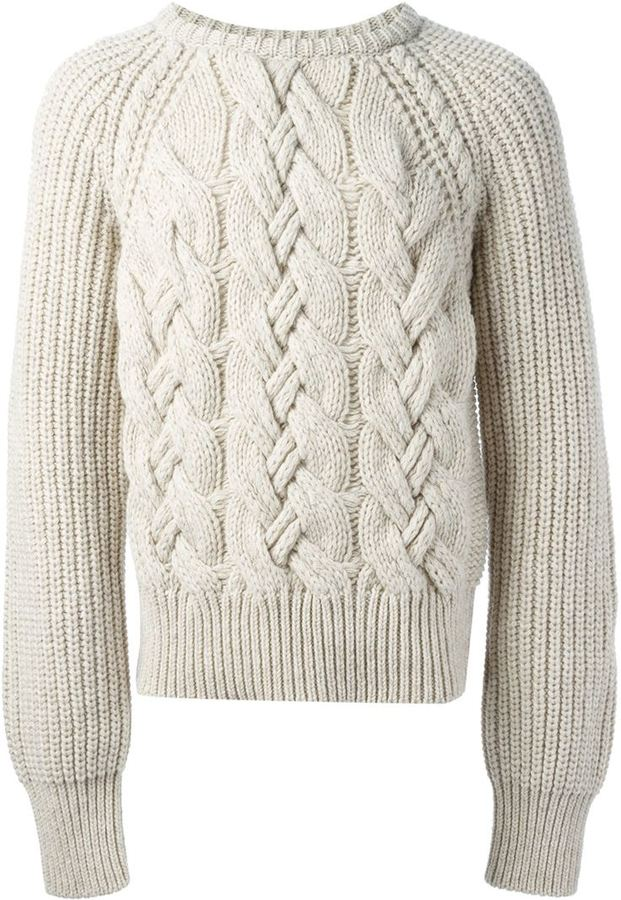 ... cerruti cable knit sweater FFODBWC
