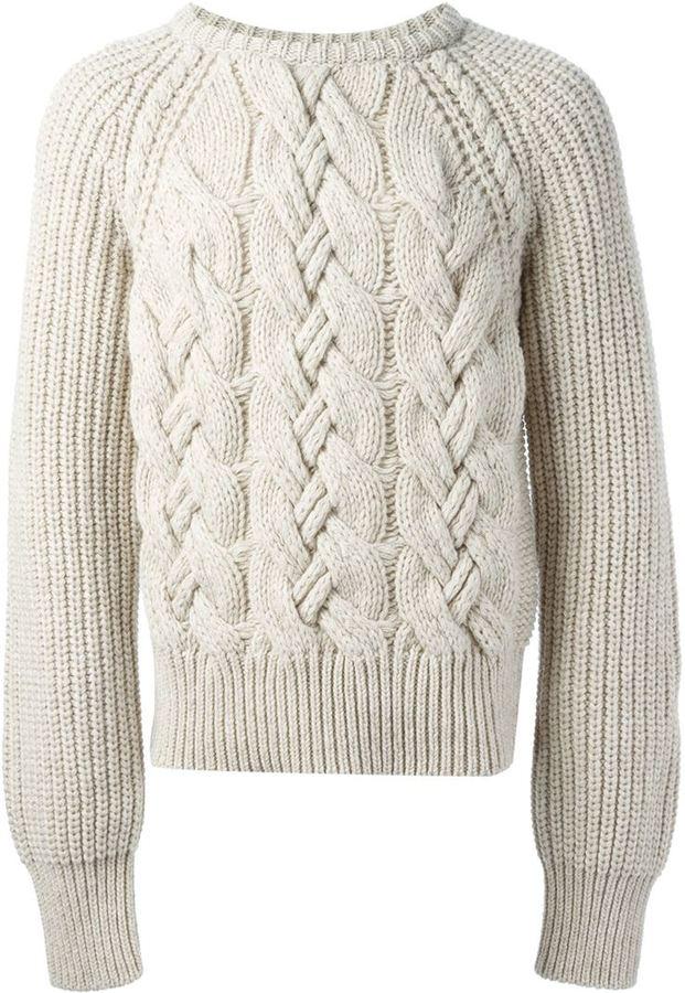 ... cerruti cable knit sweater FFODBWC