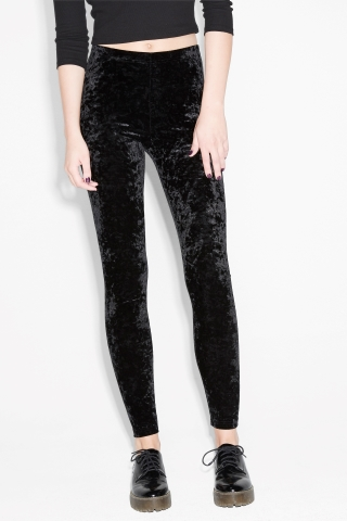 ... monki image 3 of velvet leggings in black ... XKVLNCA