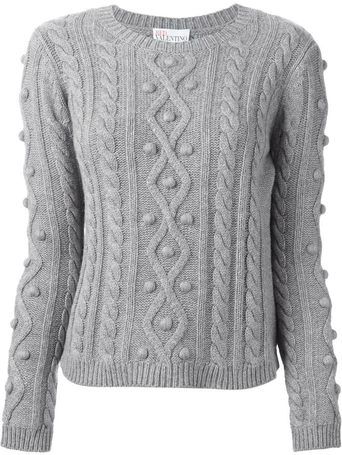 ... red valentino cable knit sweater MINPTTU