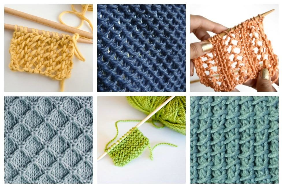18 easy knitting stitches you can use for any project QTZOWEI