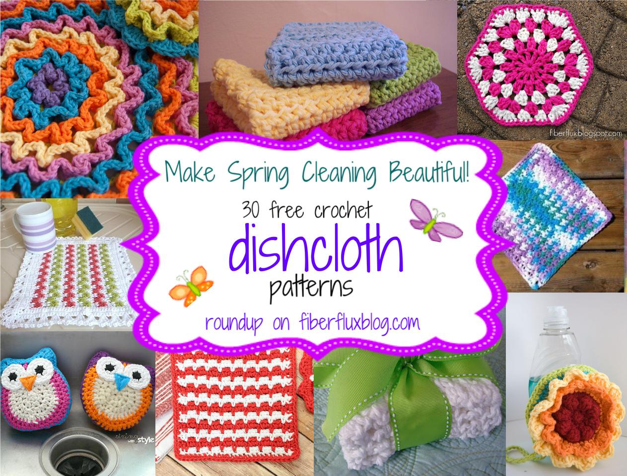 30 free crochet dishcloth patterns! CHTTAEK