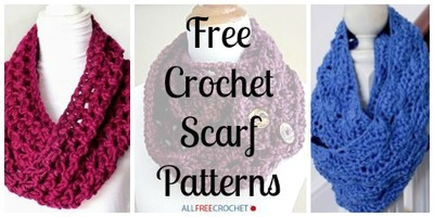 34 free crochet scarf patterns FVMJQKH