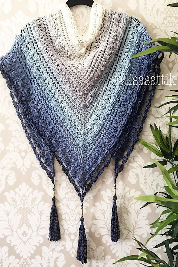 6 free knitting u0026 crochet shawl patterns JKSFVNM