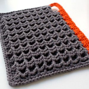 8 beautiful crochet potholders - this is a 3d granny square pattern PPFEJFR