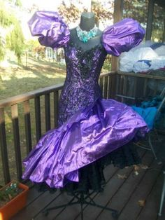 80s prom dress vintage 80s prom party dress purple wild child liquid metallic s YXQOTWN