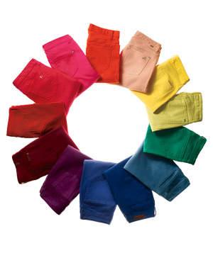 a circle of colored jeans IMQLJUC