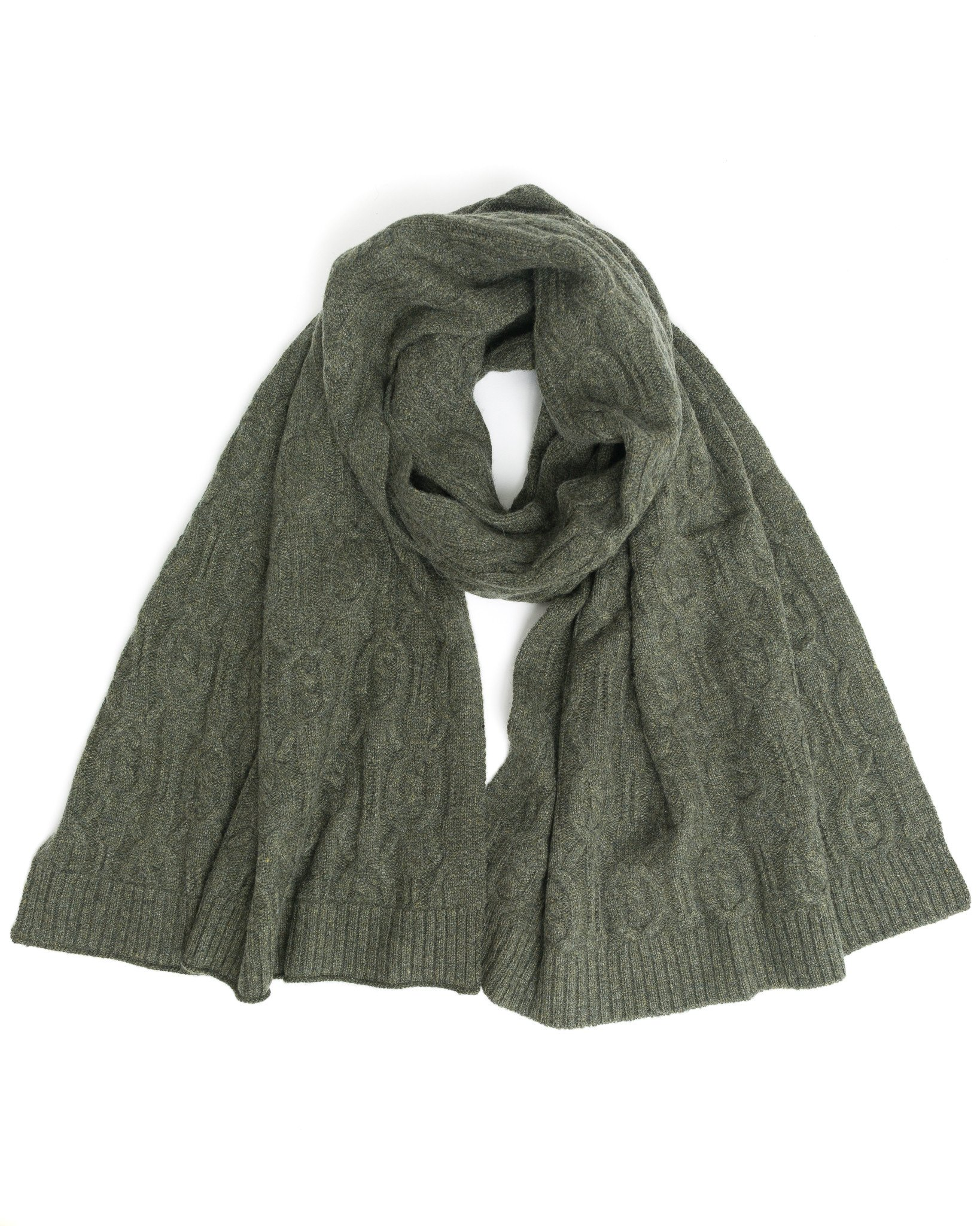 accessories - cable cashmere scarf AAQXAIZ