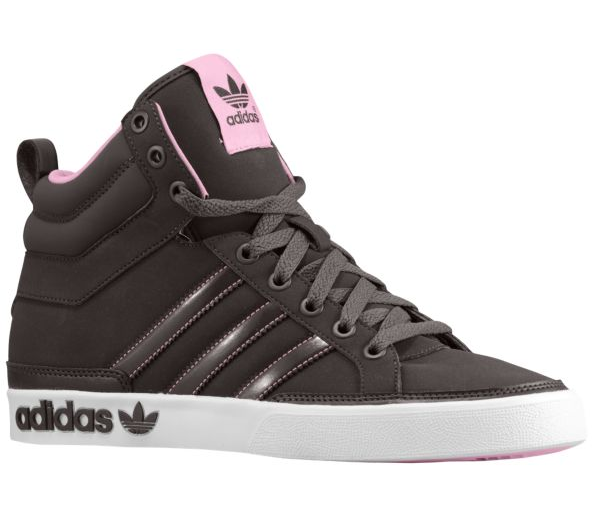 adidas high tops women adidas originals top court hi - womenu0027s grey pink white shoes XTSTYQB