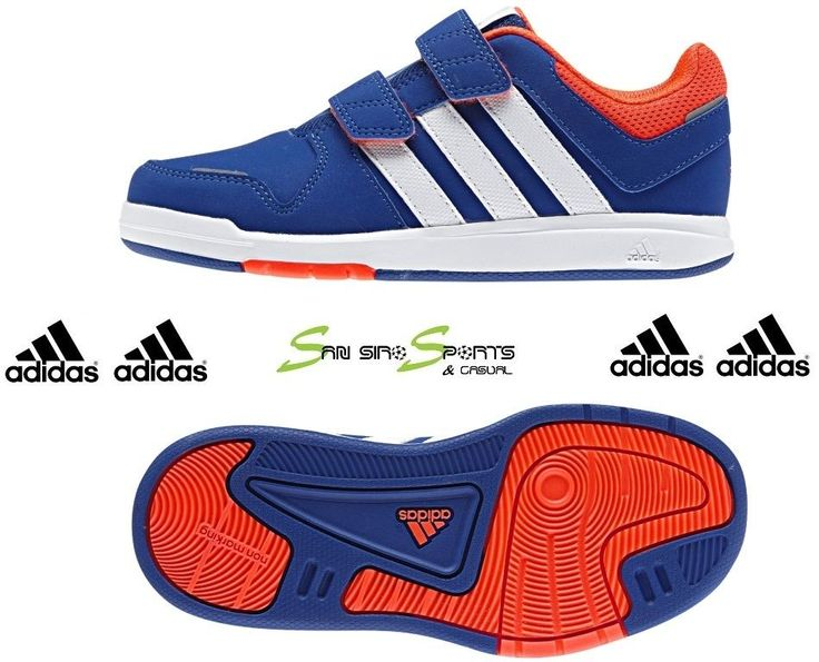 adidas kids shoes boys sneakers trainers 6 cf m20062 casual velcro blue NEGUHWK
