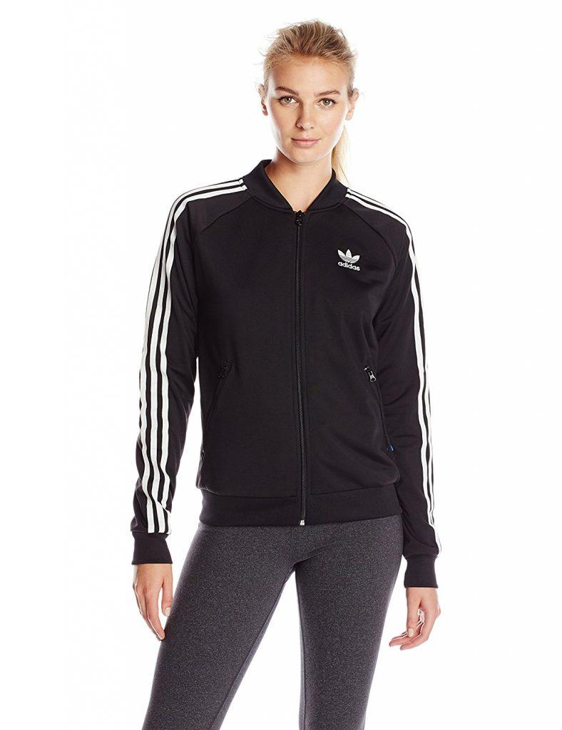 adidas originals jacket adidas originals womenu0027s equipment adv / 91-17 track top full zip knit  jacket, subgreen/black, LAQACSE