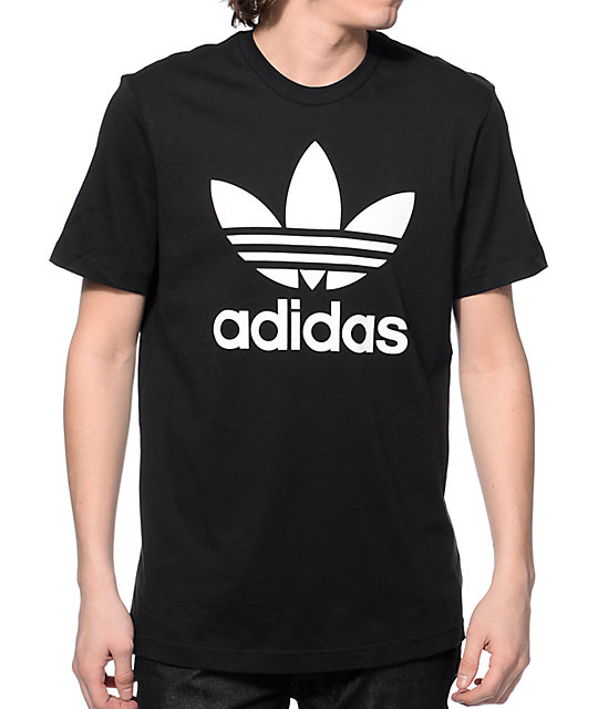 Adidas Shirt adidas originals trefoil black t-shirt XRBSEFY