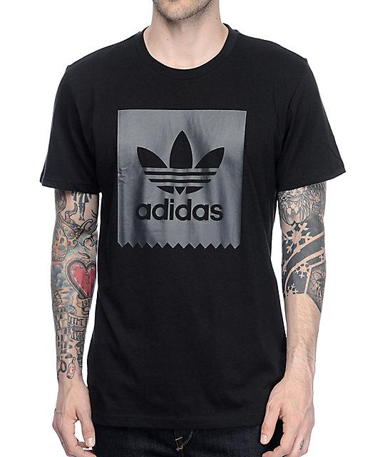 Adidas Shirt adidas solid blackbird black t-shirt PAPGKGC