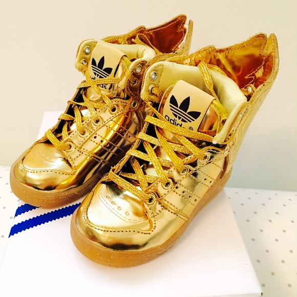 adidas shoes - jeremy scott wings 2.0 gold sneakers IMQTZAU