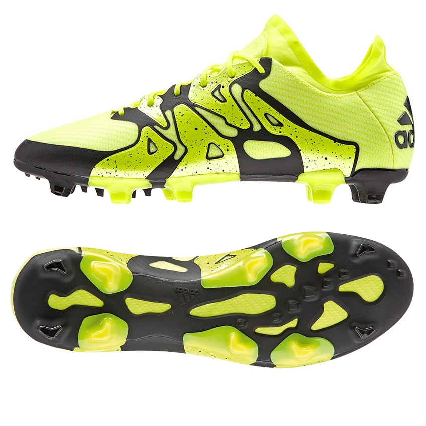 adidas soccer boots adidas x 15.1 fg/ag soccer cleats (solar yellow/black/frozen yellow) MJISSUY