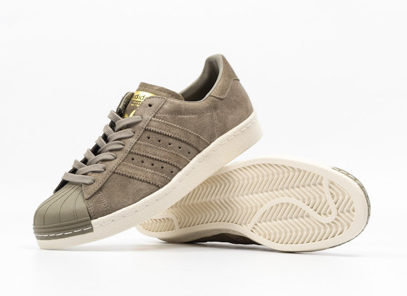adidas superstar 80s the adidas superstar gets covered in olive suede THRFEYQ
