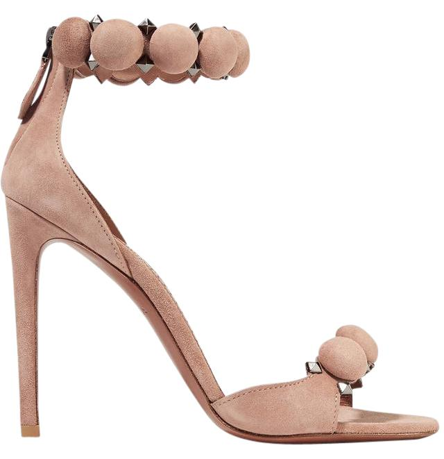 alaia shoes alaïa alaia studded suede new nude sandals ... KFAQIBO