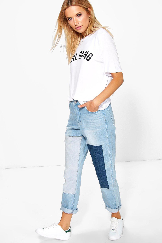 alice patchwork boyfriend jeans. hover to zoom ZCVJGWW