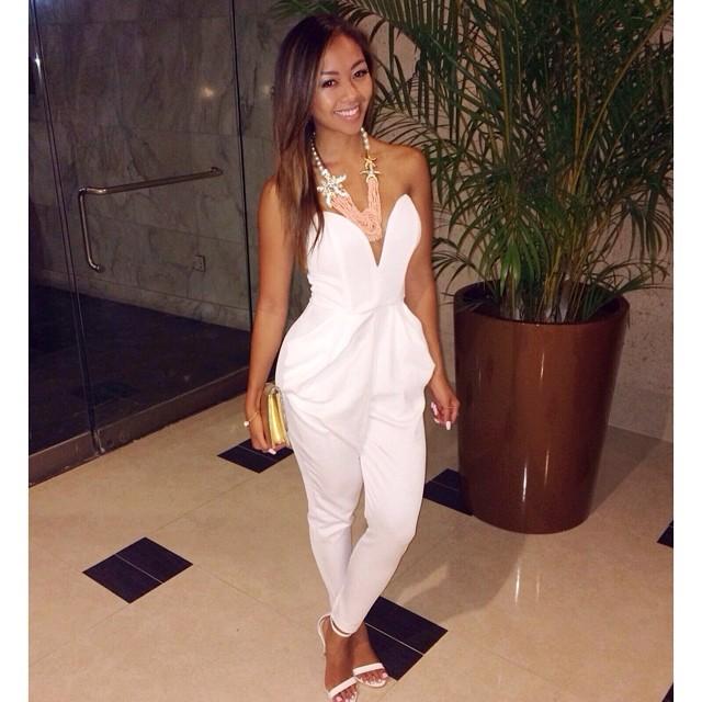 all white jumpsuit PGUCBWK