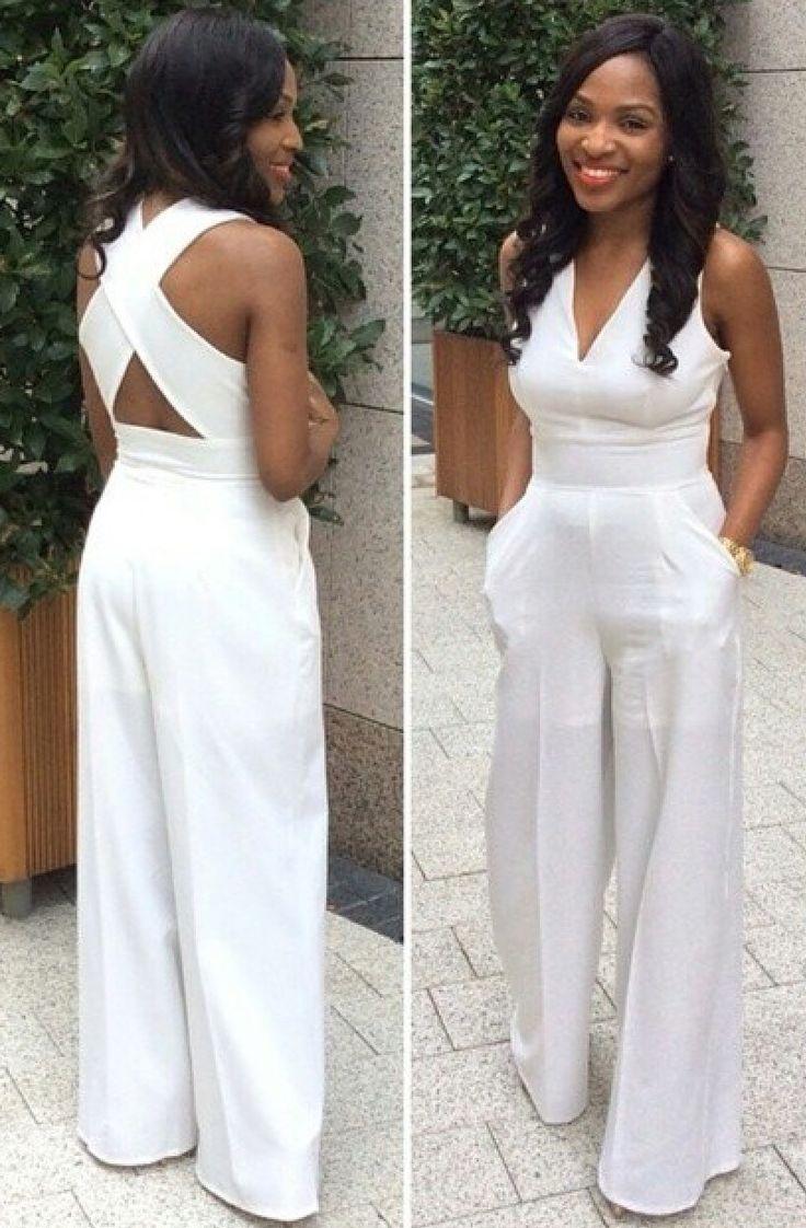 all white jumpsuit white jumpsuit ~ classy LHHGJZF