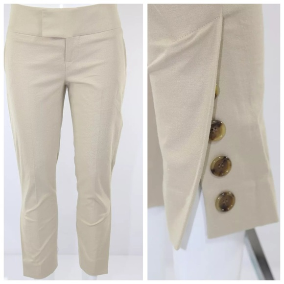 alvin valley pants - alvin valley beige crop cigarette pants 31 RFINTTZ