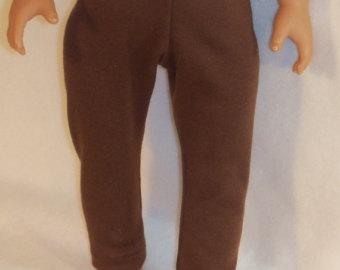 american made 18 inch doll brown leggings LKVDWVT