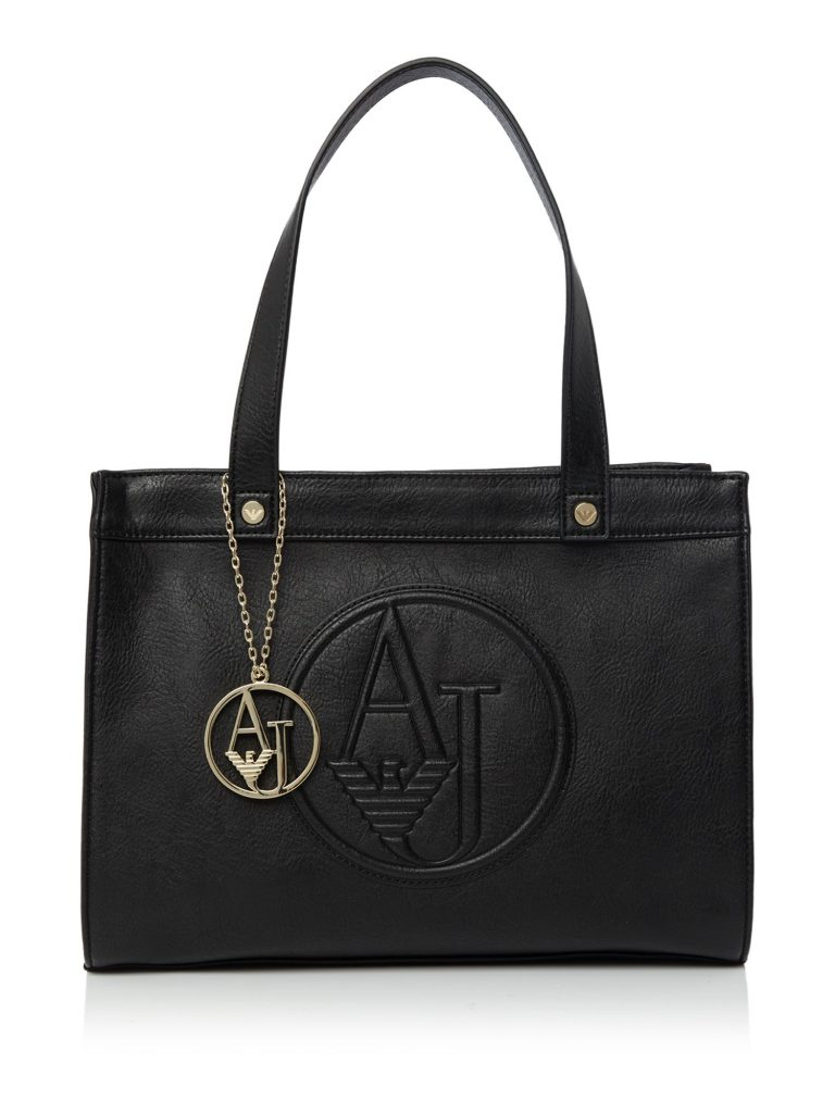 armani bags armani jeans eco leather black medium tote bag – house of fraser BDNZMSY