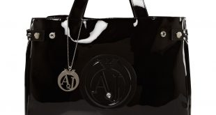 armani bags armani jeans patent black tote bag - house of fraser ZDICKNH