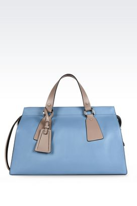 armani bags armani top handles women large le sac 11 bag in tricolour semi-shine  calfskin OXJKOXP