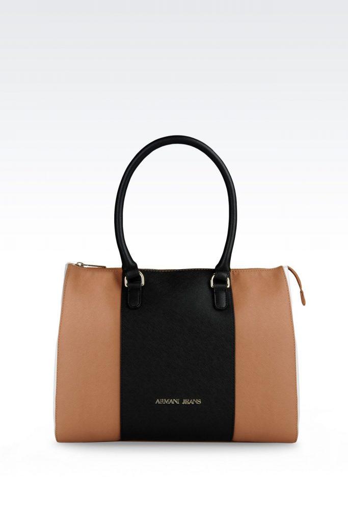 armani bags shopping bag in saffiano calfskin: shoppers women by armani – 0 CUMFOIJ