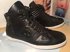 armani shoes $795 giorgio armani high top sneaker black leather men sz 8 new BTUPKUG