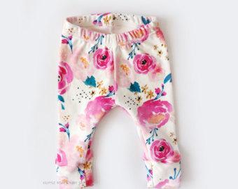 baby girl, baby girl leggings, girl leggings, flower leggings, newborn girl  leggings SAROHHI