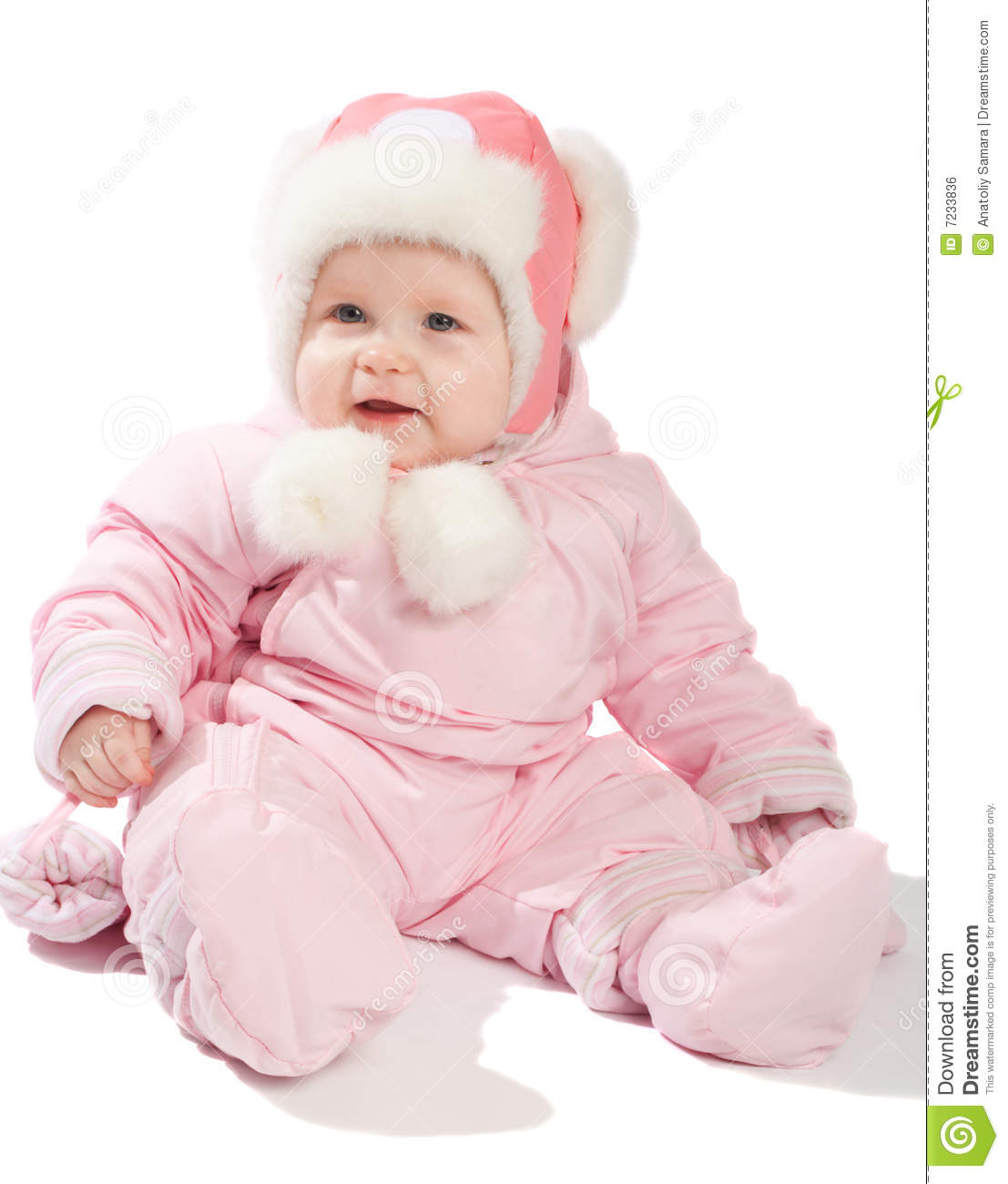 baby winter clothes baby clothes isolated pink smiling winter ... SGSLURV