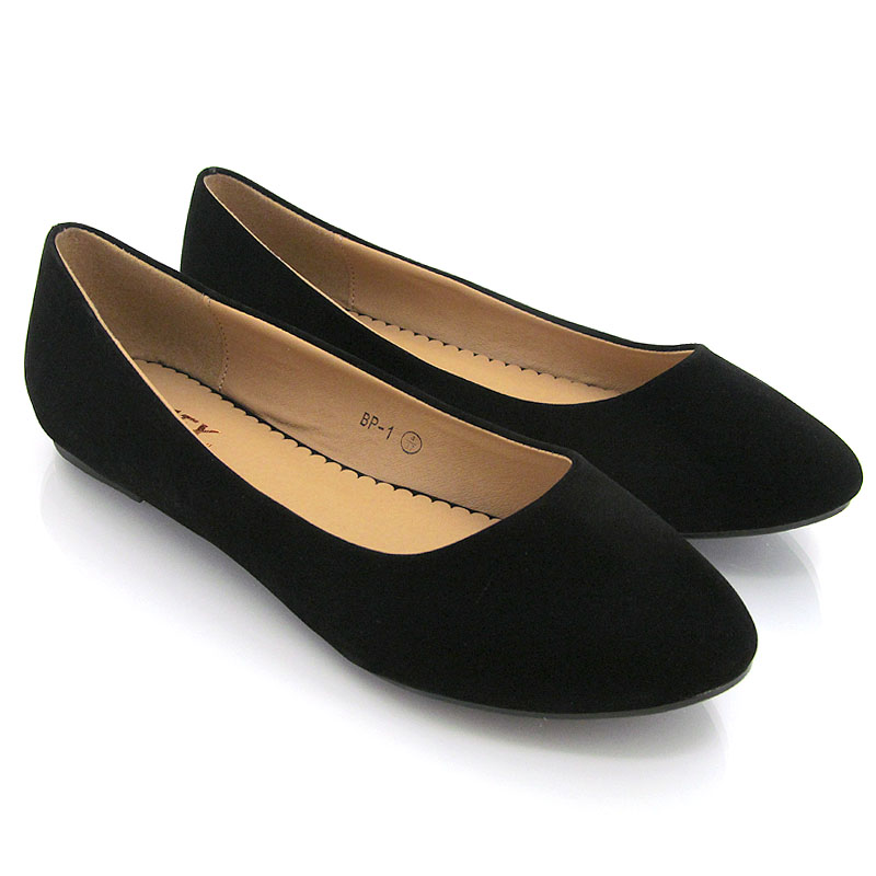 Black Glitter Wide Fit Shoes