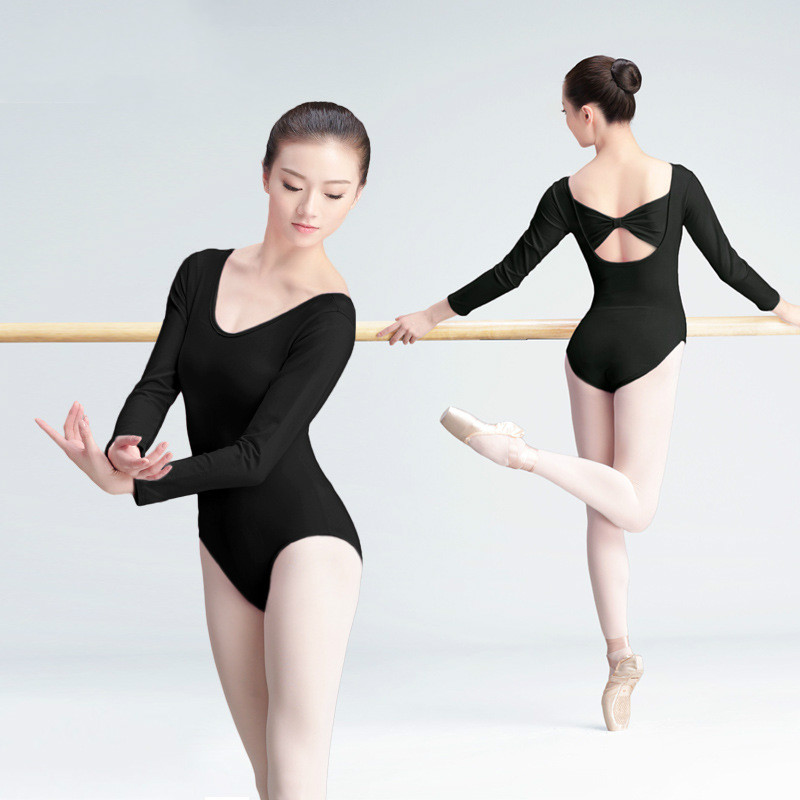 ballet clothes long sleeve sexy women gymnastics leotard lady black ballet suit adult dance  practice clothes RKITREJ