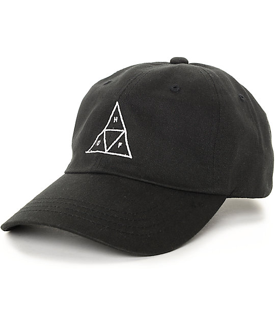 baseball caps huf triangle black baseball strapback hat BTORXCV