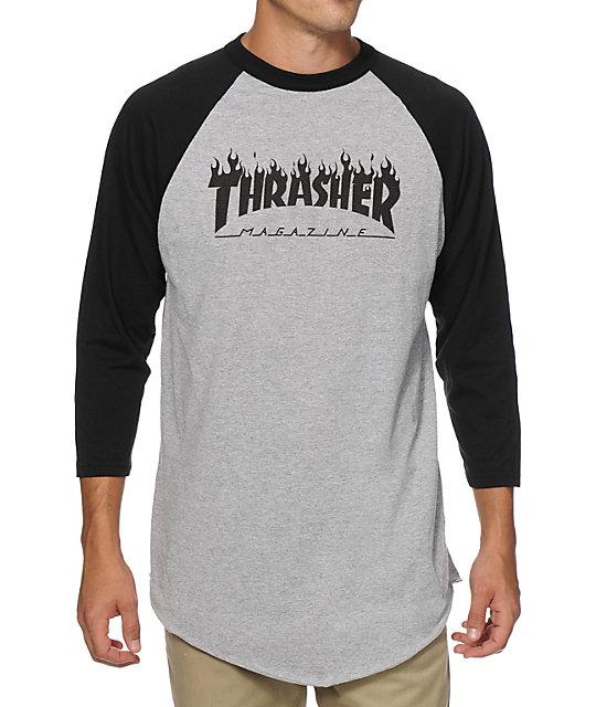 baseball tees thrasher flame baseball t-shirt FCMDNHC