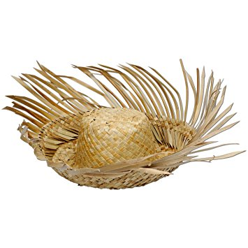 beachcomber straw hat party accessory (1 count) FUBNXMD