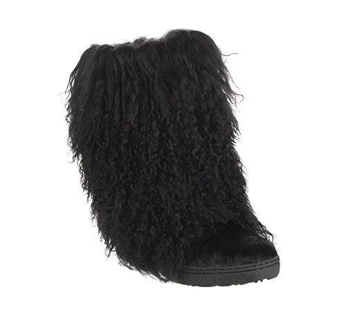 bearpaw boetis - women\u0027s furry boots - 1294w - black KHIIEBY