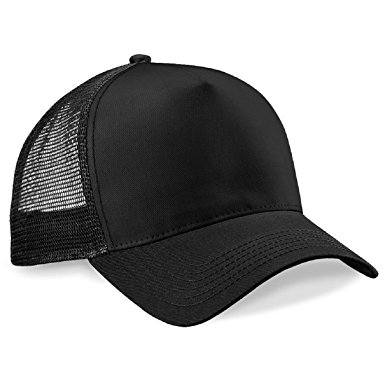 beechfield trucker cap in black / black WLTMUMF