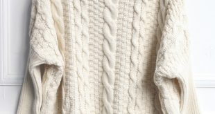 beige high neck loose cable knit sweater -shein(sheinside) OTBZGGH