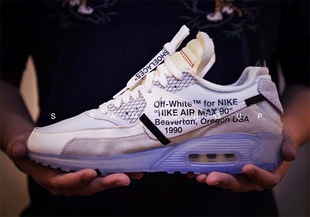 best look yet at the off white x nike air max 90 FDAUNCX
