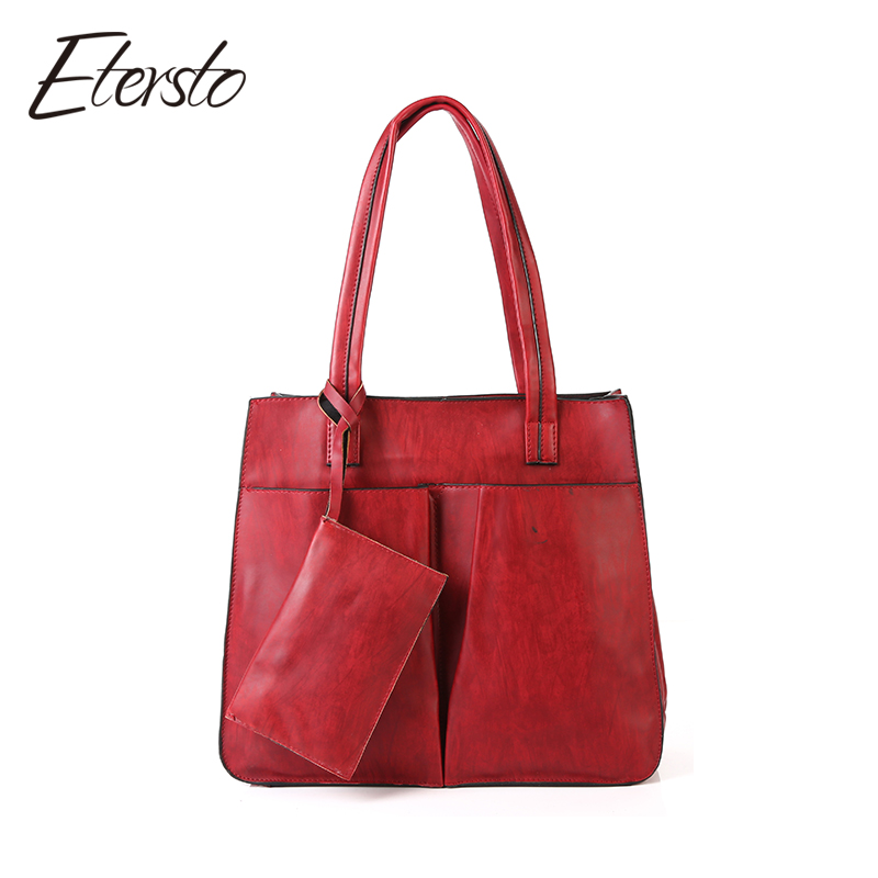 big handbags etersto brand 2017 new fashion women leather pu handbags female big bags  luxury ladies AITXZPE