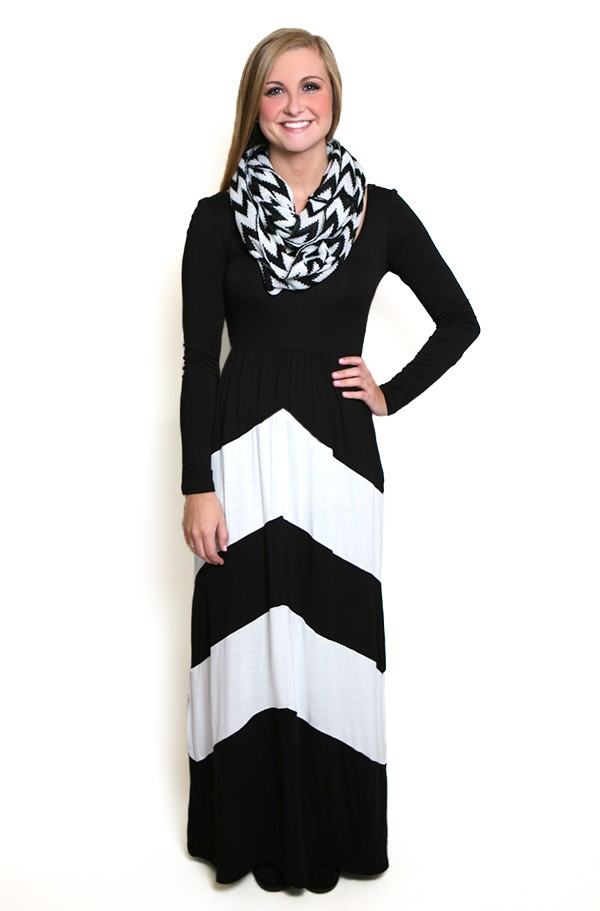 black and white maxi dress walk this way long sleeve maxi dress in black and white OWELJKK