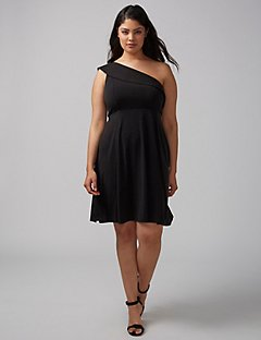 black dress plus size final sale FBLECWU