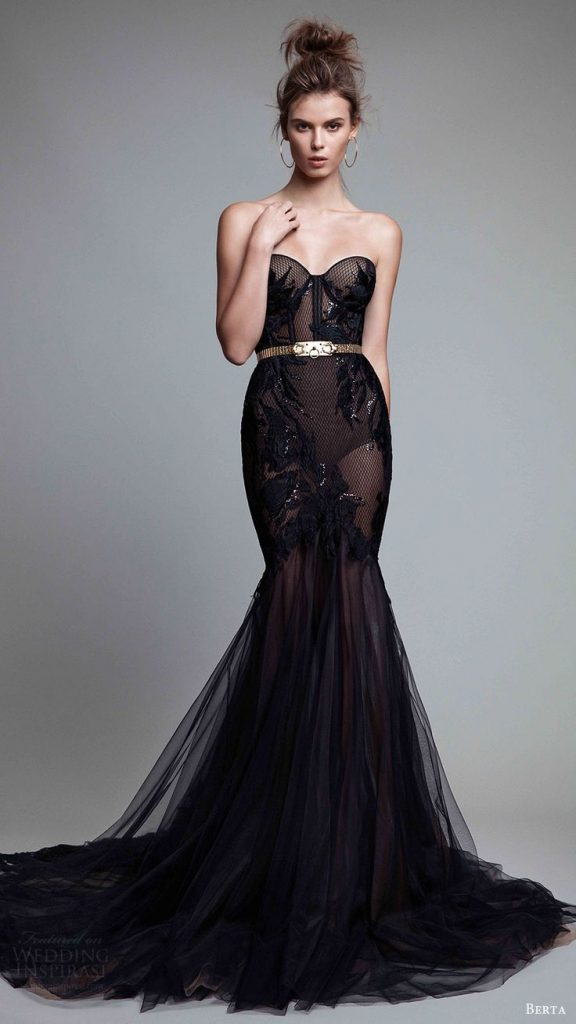 black evening dresses berta fall 2017 ready-to-wear collection. night out dressesblack evening … SAOIKHT