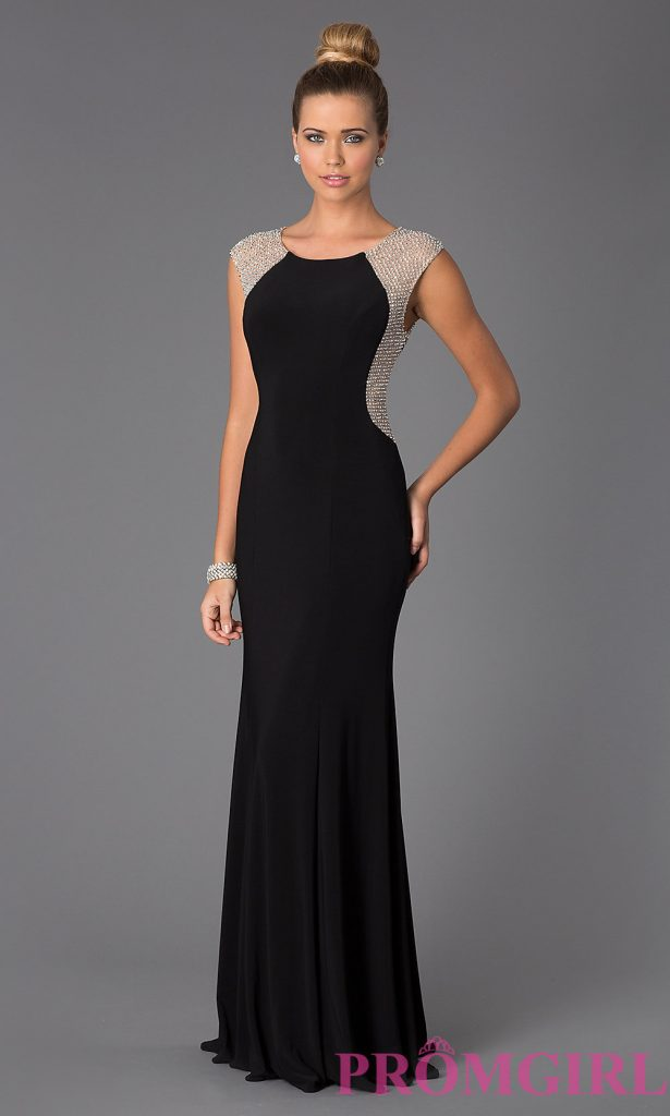 black evening dresses hover to zoom XFKLWVO