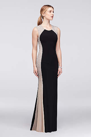 black evening dresses xscape EMAFPHY